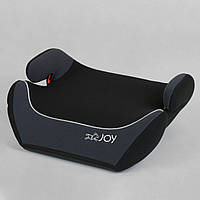 Детское автокресло-бустер JOY 43616 Черный с серым, группа 2/3, вес ребенка 15-36 кг