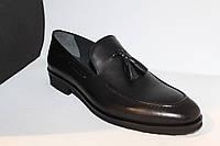Туфли кожаные черные лоферы