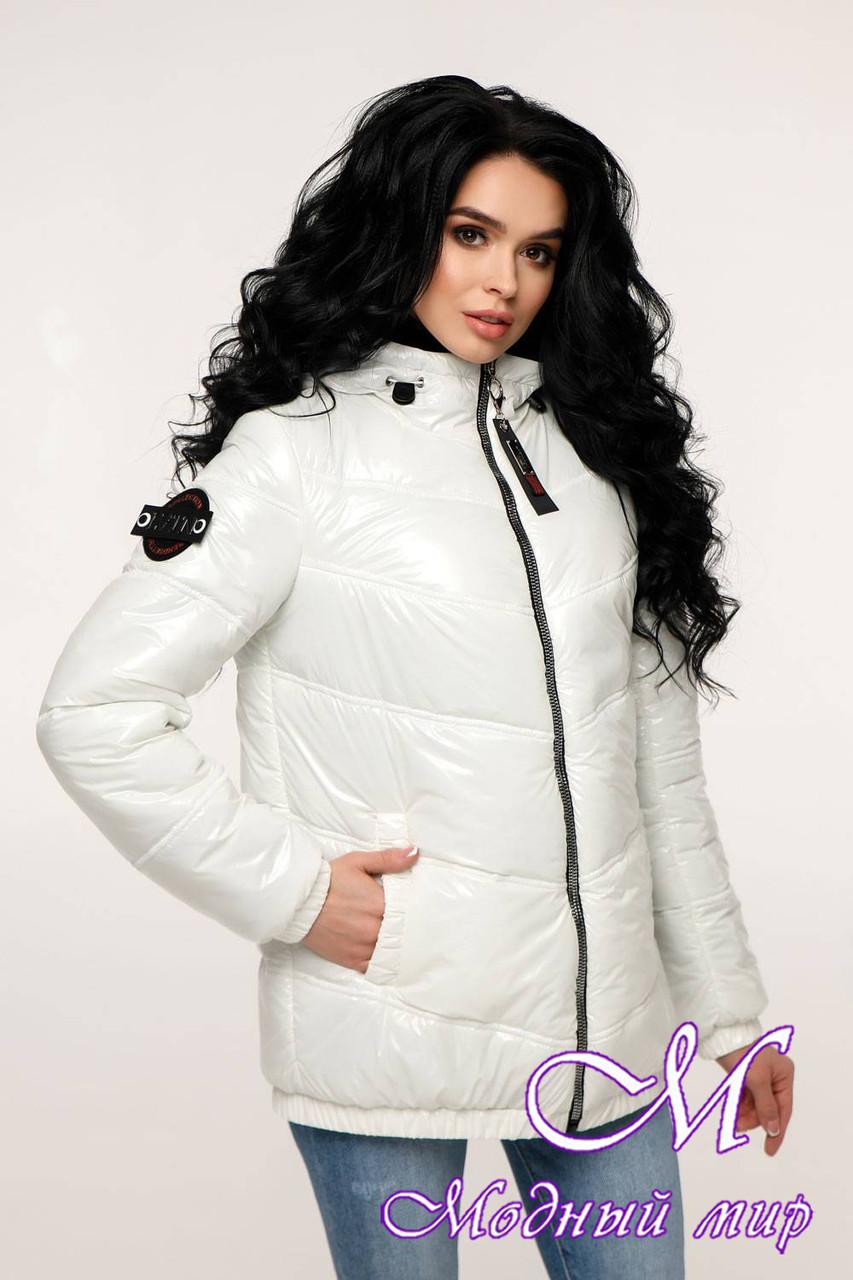 Белая демисезонная куртка женская (р. 44-54) арт. 12-37/20-21