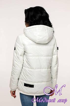 Белая демисезонная куртка женская (р. 44-54) арт. 12-37/20-21, фото 2
