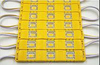 Светодиодный 3-led модуль smd 5730   12V   1.4W, IP65, желтый