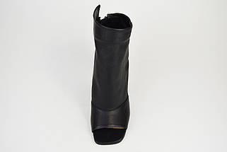 Босоніжки на підборах закриті Lottini 042534 Чорні шкіра 38 р 24,5 см, фото 3