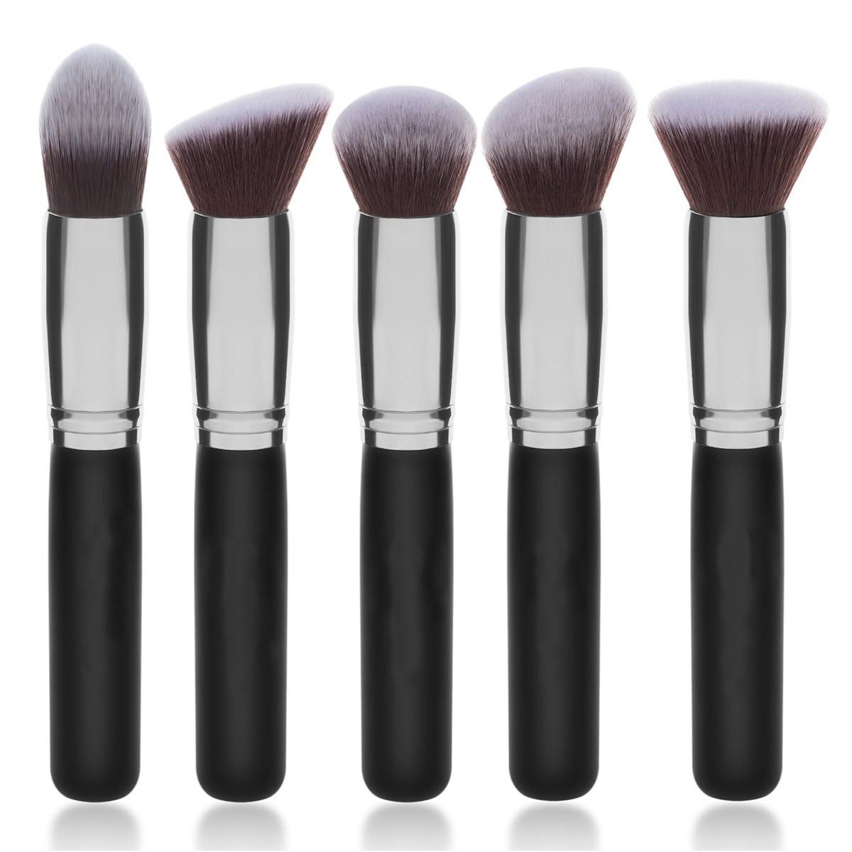 Набор из 5 кистей Kabuki для макияжа лица