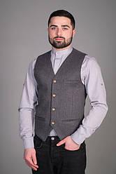 Мужской жилет для официанта и бармена серого цвета