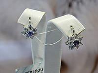 Серьги серебряные с куб.цирконием, фото 1