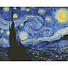 """Алмазная вышивка на холсте с подрамником, Абстракция """"Звездная ночь"""" Винсент Ван Гог 40*50 см"""