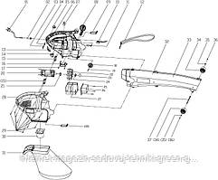 Запчасти для воздуходувки электрической Sadko SBE-1600