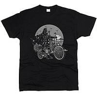Дарт Вейдер на велосипеде 01 Футболка мужская