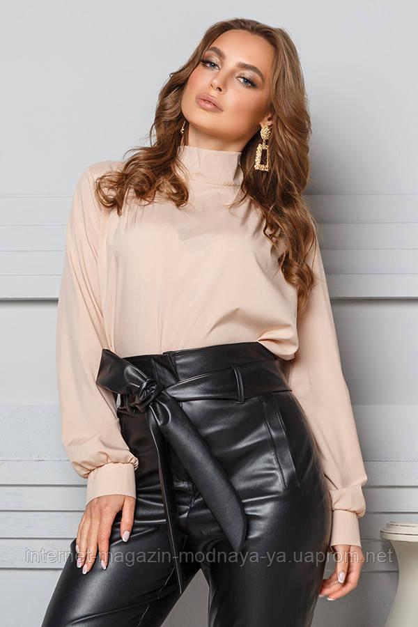 Молодежная блузка с бантом сзади № 20-011 р. S;M; L