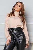 Молодежная блузка с бантом сзади № 20-011 р. S;M; L, фото 1