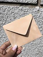 Бархатный конверт мини для пластиковой карты, пудровый