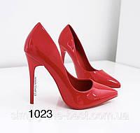 Туфлі жіночі класичні  червоні лакові, фото 1