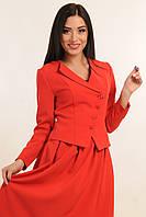 """Модный укороченный красный женский пиджак """"Мулен Руж"""""""