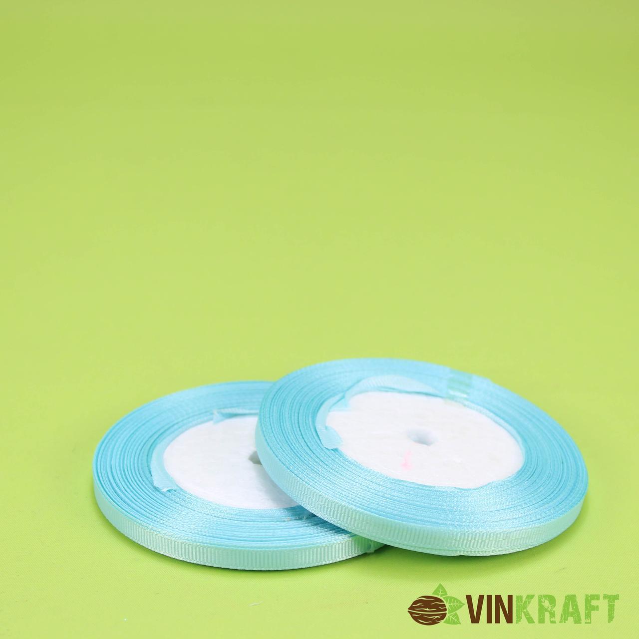 """Стрічка """"Репсова"""" 0,6 см (18 м) світло-блакитна"""