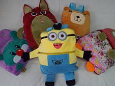 Рюкзак-плед-подушка-игрушка