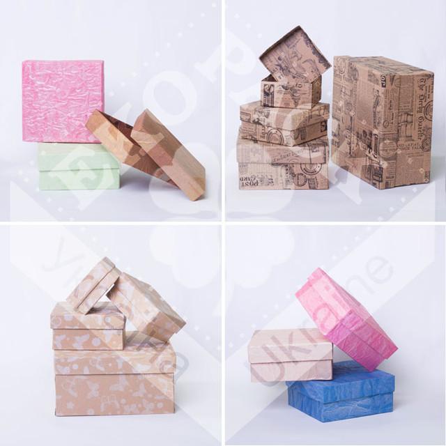 Коробки квадратные низкие