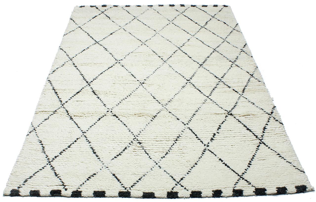 Коврик современный Moroc-1 1,2Х1,7 БЕЛЫЙ прямоугольник