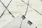 Коврик современный Moroc-1 1,2Х1,7 БЕЛЫЙ прямоугольник, фото 2