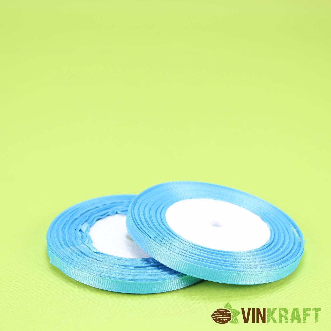 """Стрічка """"Репсова"""" 0,6 см (18 м) блакитна"""