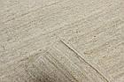 Ковер суконные Nat Dhurries 1,6Х2,4 Светло-серый прямоугольник, фото 3