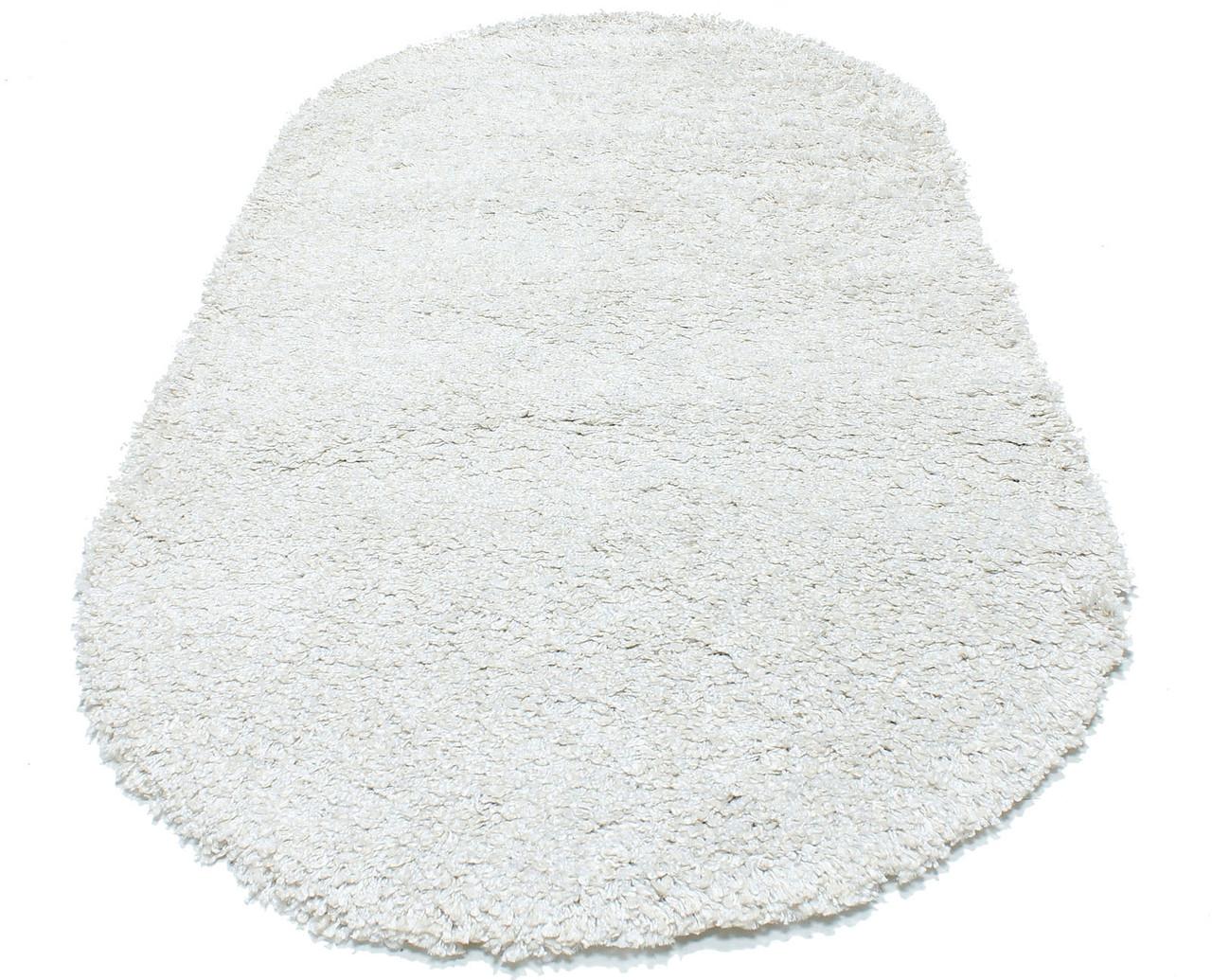 Коврик с высоким ворсом NEW MERIDIAN 3 0001-01 0,8Х1,5 СЕРЫЙ овал