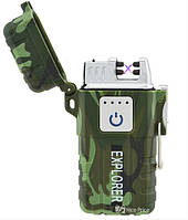 Зажигалка электроимпульсная JL317 Explorer Army (6741) Камуфляж, фото 1
