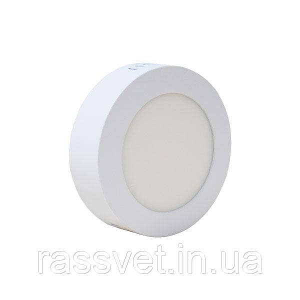 Светильник накладной светодиодный PWL 6W 6000K IP20 круг