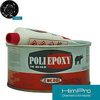 POLIEPOXY VERTICALE Black 250ml GENERAL Полиэфирно-эпоксидный клей для мрамора, гранита - черный