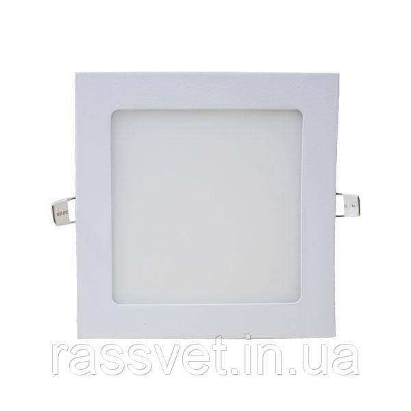 Светильник встраиваемый светодиодный PWL 12W 3000K IP20 квадрат