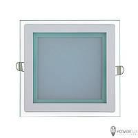 Светильник светодиодный 12W квадрат 4500K + стекло TM Crop