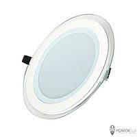 Светильник светодиодный 12W круг 4500K + стекло TM Crop