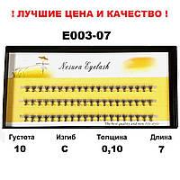 Ресницы Nesura Eyelash 10D, 7 мм, изгиб С, 0,10, 60 пучков Несура ресницы пучками
