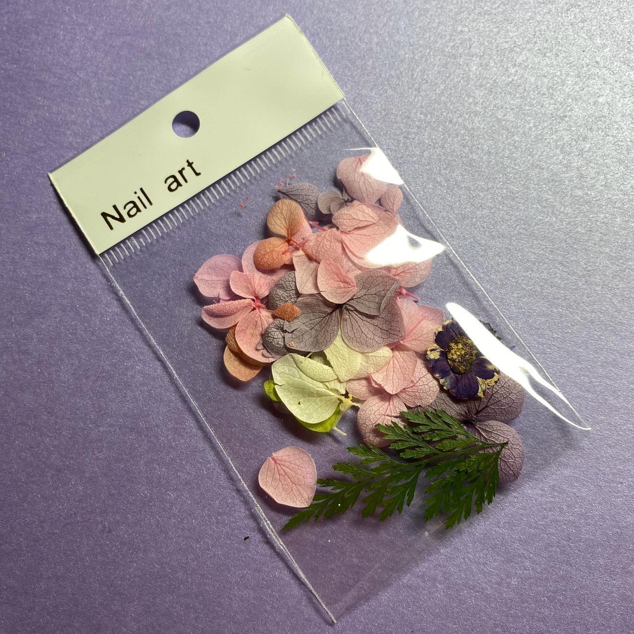 Сухоцветы декор для для дизайна ногтей