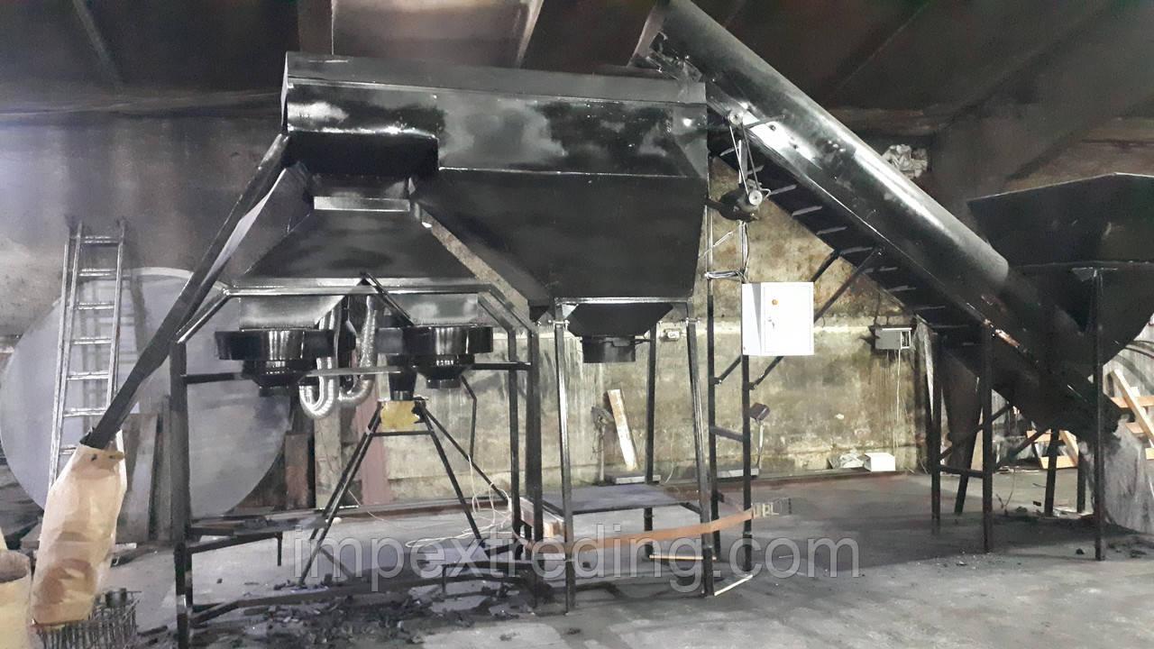 Установка для фасовки древесного угля