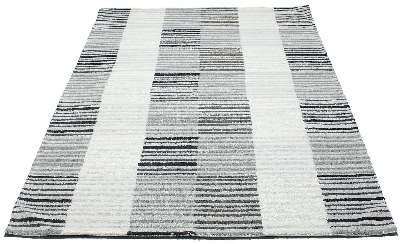 Коврик современный PANACHE Block Stripe Rug 1 1,5Х2,3 КРЕМОВЫЙ прямоугольник
