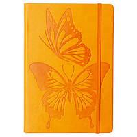 Блокнот A6, 96 л; Butterfly Dance, #, кожзам, рез, оранж