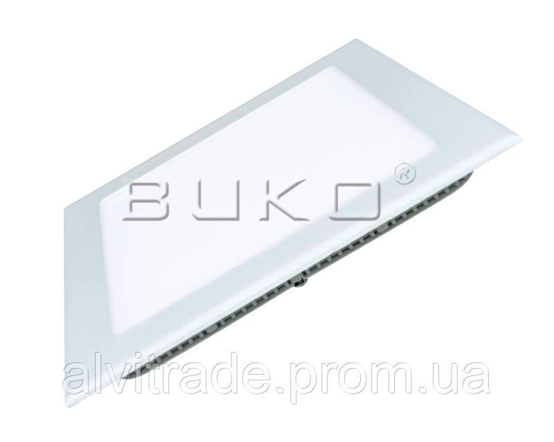 LED панель светодиодна WATC WT9017 СВ-К LED ВСТРАИВАЕМЫЙ 18W КВАДРАТ 225*225MM H-25MM 4000K 1440LMLM