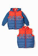 Куртка 2-в-1 для хлопчика до 2 років, 5.10.15, червоно-синя