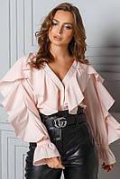 Молодежная блузка с воланами № 20-001 р. S;M; L, фото 1