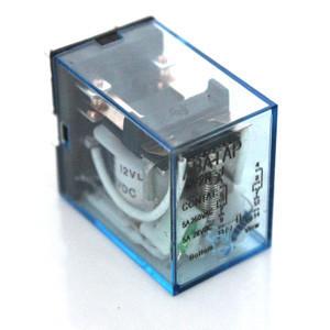 Реле промежуточное квадратное 4 контакта 14 клемм с лампочкой