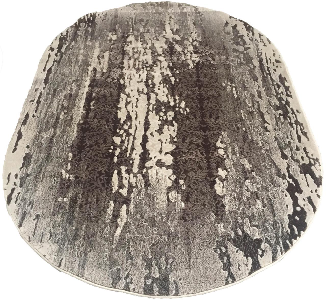 Ковер современный PATARA 0116 1,6Х2,35 Коричневый овал