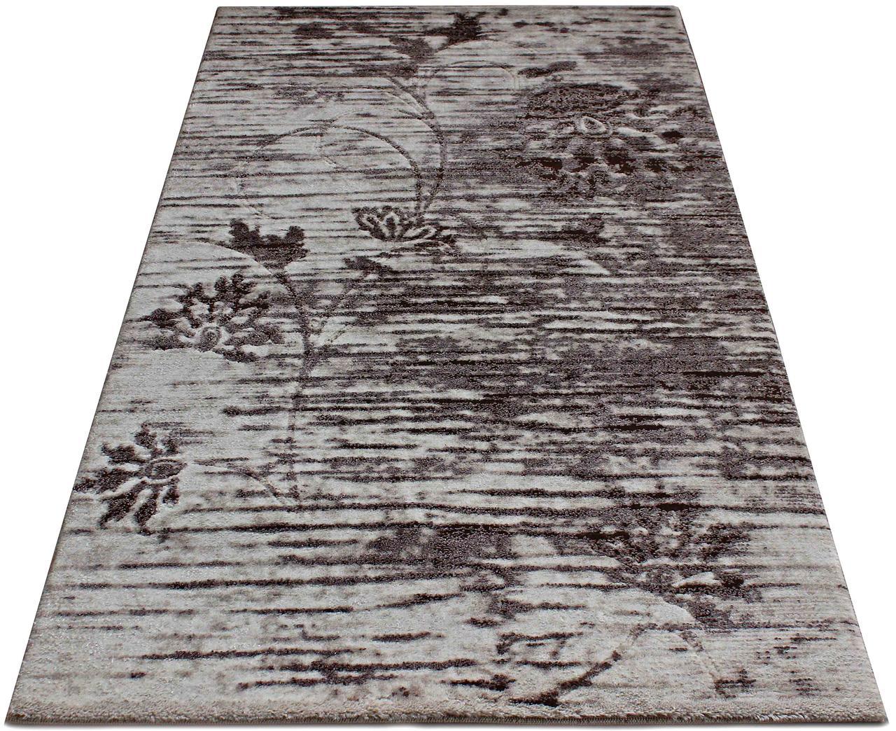 Коврик современный PATARA 0126 0,8Х1,5 КОРИЧНЕВЫЙ прямоугольник