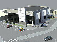 Строительство двухэтажного торгового центра