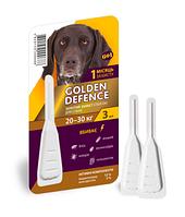 Капли на холку Golden Defence от паразитов для собак весом от 20-30 кг, 3 мл - 1 пипетка