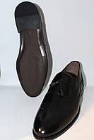 Кожаные туфли черные лоферы