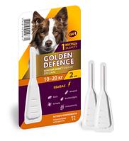 Капли на холку  Golden Defence от паразитов для собак весом 10-20 кг, 2 мл - 1 пипетка
