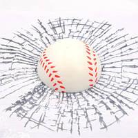 3D Наклейка  - Бейсбольный мяч на стекло автомобиля