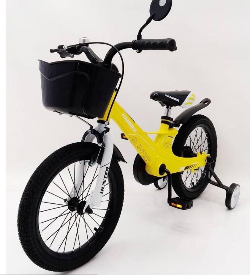 Велосипед 1850D-HAMMER HUNTER желтый Магниевая рама и диски (Magnesium)