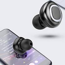 Bluetooth AirBuds V09 black Гарантія 1 місяць, фото 3