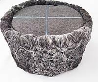 Кубанка із сірого каракулю: сірий верх + сірий галун